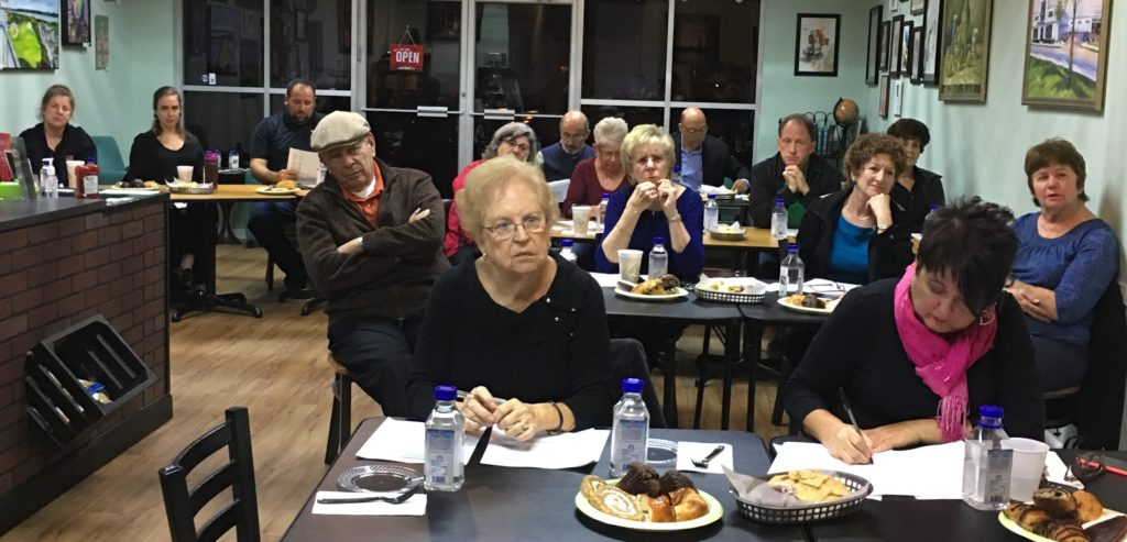 Twenty people attended The Jewish Federation's Board of Directors meeting on Tuesday, Jan. 10, 2017, hosted by Eden Fresh Cafe. Photo by Marvin Miller