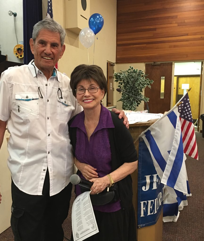 Jewish Federation co-President Marvin Miller and Gloria Max enjoy the lunch.